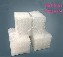 Bolsas de burbujas acolchadas, envoltura protectora de burbujas, embalaje de espuma, 8x10cm, 50 Uds., 10mm