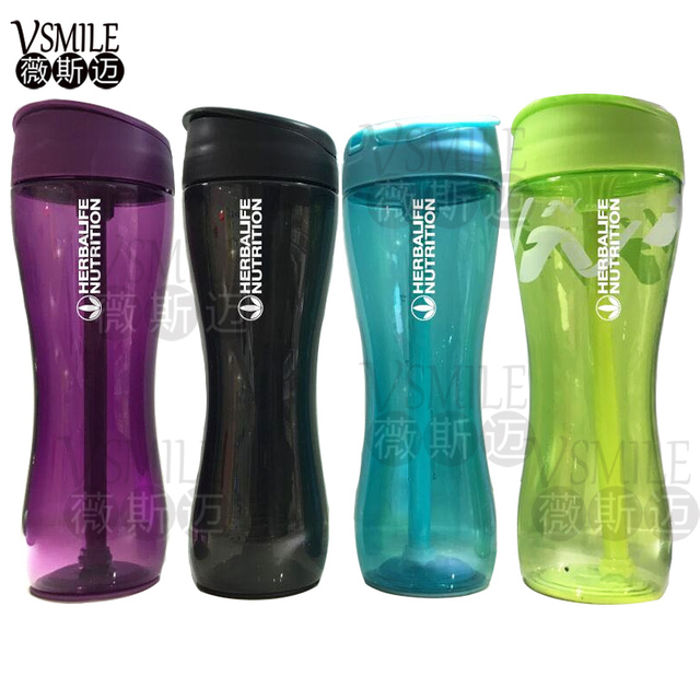 High Quality  Green Purple Herbalife fit 500ml Sports Shaker Bottle Portable Space  Sports Nutrition Water Bottle Resistant