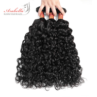 Water Wave Remy Hair 8 36 Inches Peruvian Human Hair Weave Bundles Natural Color Weaving Extensions Arabella Hair