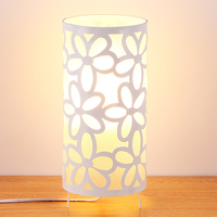 White Through Cared LED Desk Lamp, Modern Urban Style Decoration Table Lamp, Abajur