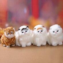 Настоящие Волосы кошки животное игрушка кошка будет пиппи детские pet cat плюшевые игрушки подарки ко дню рождения Электронных Домашних Животных дети дети подарок