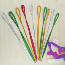 80pcs 26# Stockings Flower Material Floral Colorful Iron Wires for DIY Nylon Mesh Stocking Flowers Jewelry Making Materials
