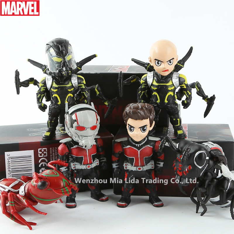 Hasbro Marvel Combination 6pcs/set ant people film and television surrounding Funko POP man model ornaments doll hand