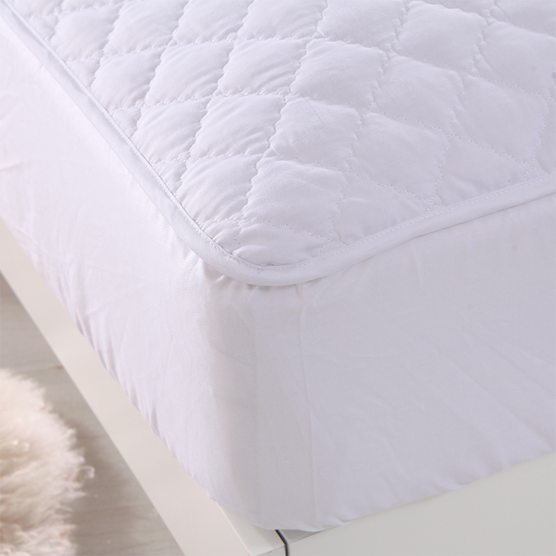 White Elastic Mattress Protective Cover Mattress Cover Soft Sanding Polyester Fiber Linens Multisize Mattress Protection Pad