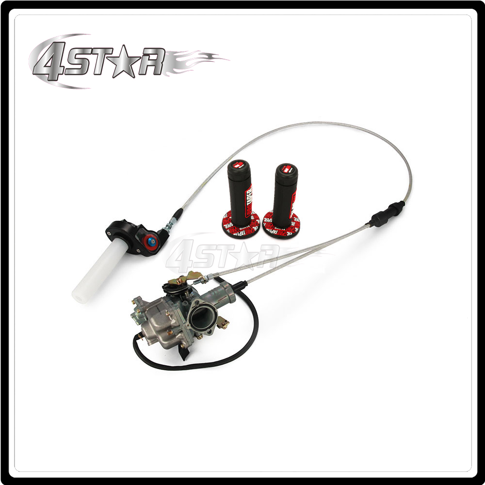 Motorcycle PZ30 Power arburetor Accelerating Pump Racing 200cc 250cc Dual Reinforced Cable Visiable Twister Grips
