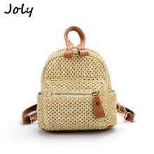 Fashion Mini Straw Designer Women Backpack Teen Shoulder Travel Bohemian Bag Elegant Simple Weave Hollow Beach Satchel Schoolbag