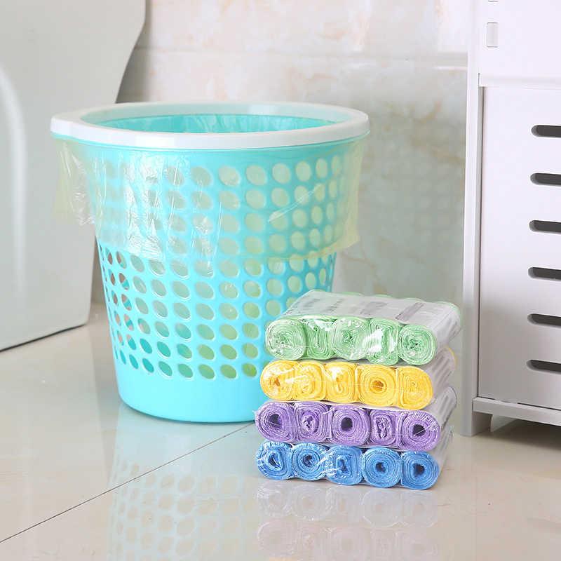 Новый Пять рулон хранение мусора сумки для ванная, туалет, кухня одноразовый пакет для мусора творческий Портативный Кухня полиэтиленовые мусорные мешки