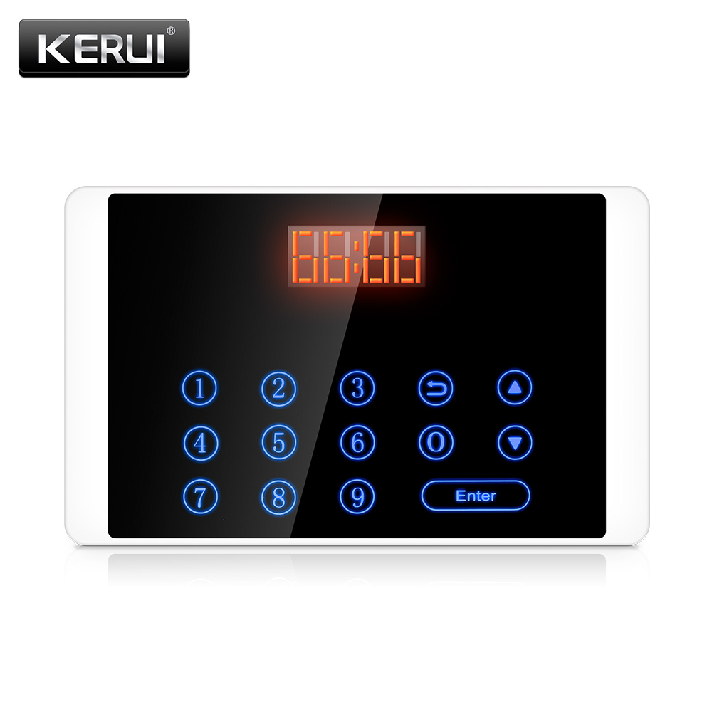 KERUI K18 wireless touch-button keypad for tea houses cafes leisure club sauna center chess room hospitals calling system 2 receivers 60 buzzers wireless restaurant buzzer caller table call calling button waiter pager system