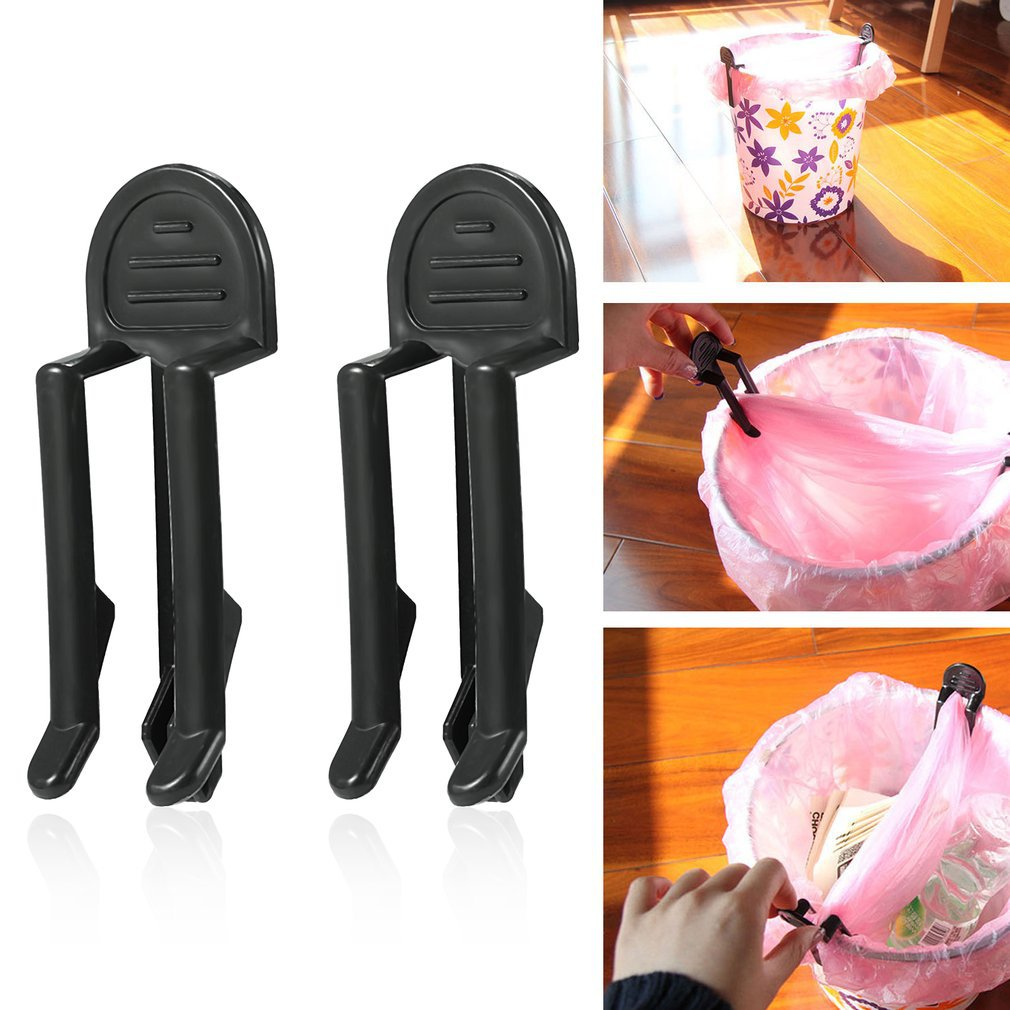 2pcs Home Practical Garbage Can Waste Bin Trash Can Bag Lock Clip Holder in Waste Bins from Home Garden