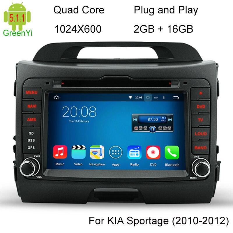 Quad Core font b Android b font 5 1 CAR DVD Radio GPS Navi For KIA