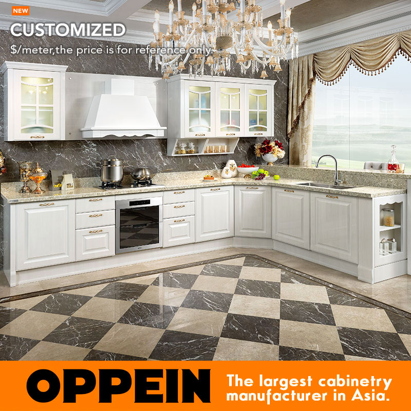 2015 New Design Despoke MDF Kitchen Cabinet PVC contemporary kitchens OP15-054