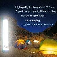 7ワット充電式ワイヤレス多機能ledキャンプランプトラック/マグネット固定smd 5730 ledチューブ緊