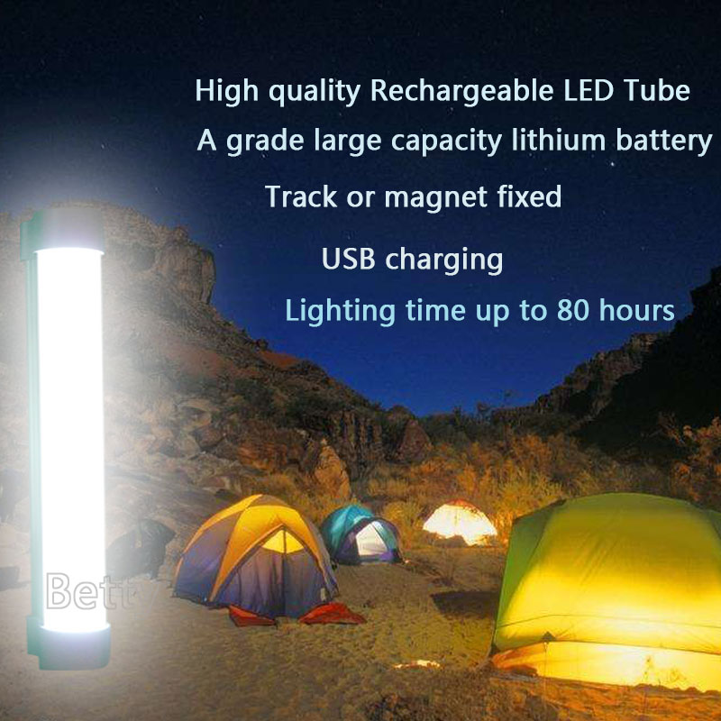 7W Rechargeable Wireless multi-function led camping lamp Track/magnet fixed SMD 5730 LED Tube Emergency lights