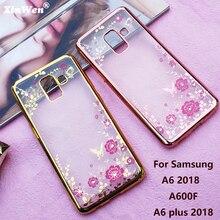 XinWen прозрачный Телефон Вернуться etui, coque, крышка, чехол для Samsung Galaxy A6 2018 A6 плюс 2018 силикона кремния роскошных аксессуаров