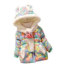 Mode Bébé Gril D'hiver veste Manteau Modèle de Dessin Animé Chaud Vêtements pour Enfants Nouveau-Né bébé filles Automne enfants vêtements Survêtement