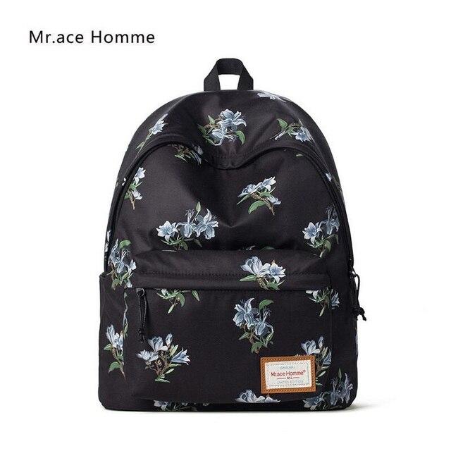 Aliexpress.com : Buy Korean style floral flowers backpacks women ...