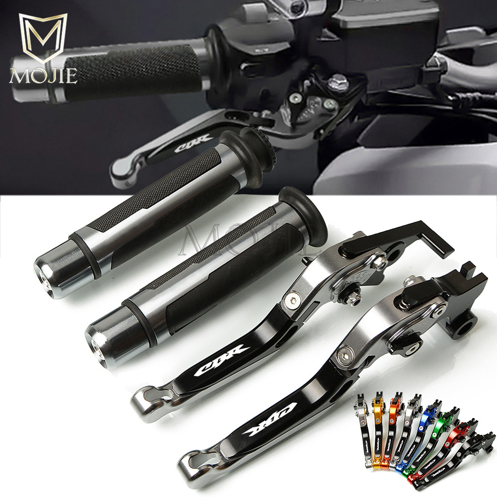 Motorcycle CNC Adjustable Foldable Brake Clutch Lever Handle Hand Grips Handlebars For Honda CBR125R CBR 125R