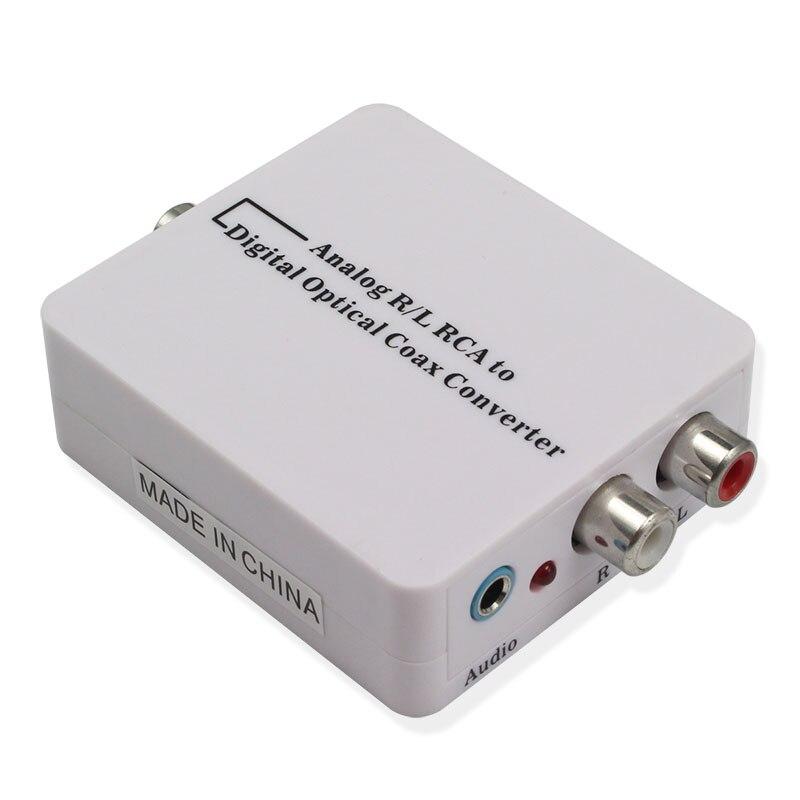 RCA Analogique à Numérique Optique Toslink Coaxial Audio Converter Adaptateur pour TV pour Xbox 360 DVD