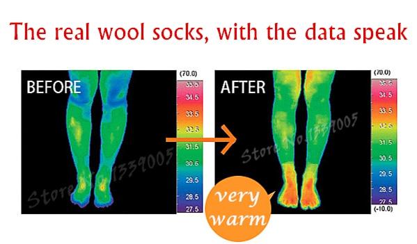 3x Men's Merino Wool Socks Warm Winter 20