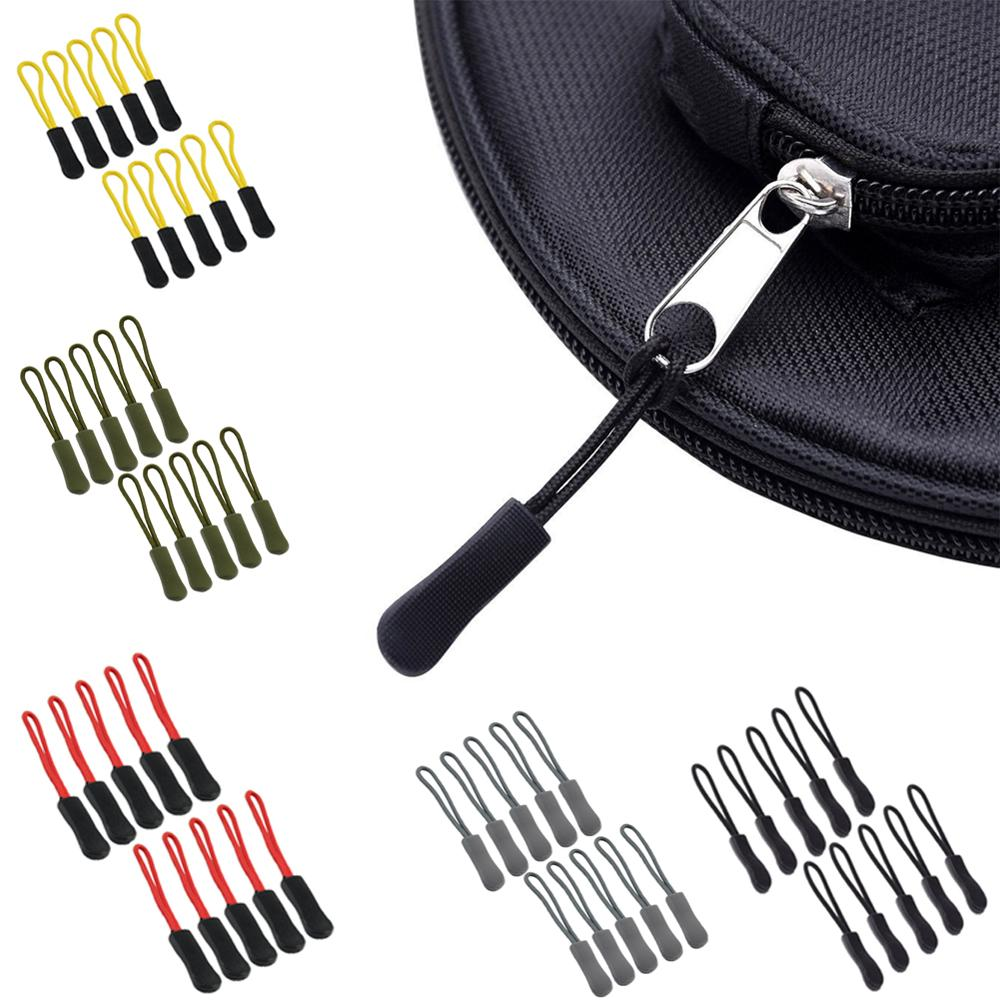 10pcs/set EDC Camping Bag Zipper Pulls Replacement Backpack Clothes Zip Cord Puller Slider Outdoor Camp Equipment Travel Kit