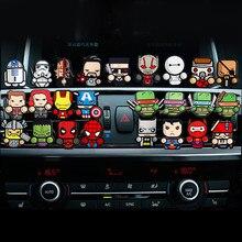 2 шт./лот, освежитель воздуха с героями мультфильмов, автомобильный парфюм для Мстителей, стиль Марвел, кондиционер, вентиляционное отверстие, зажим, аксессуары для стайлинга автомобилей