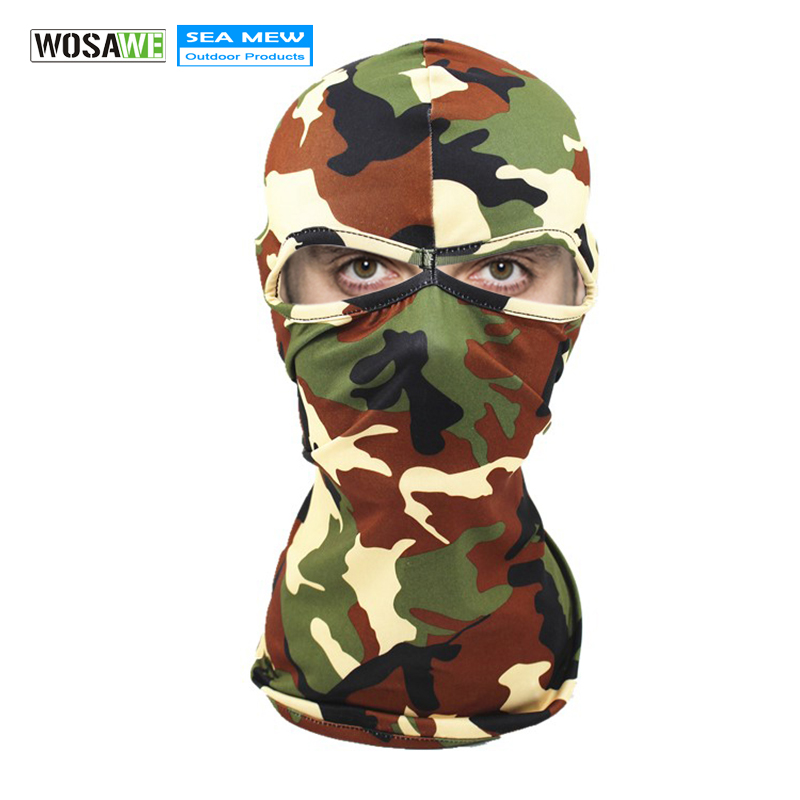 WOSAWE Winter Cycling Face Mask Motocross Outdoor Sports Face Mask Multi Functional Sunscreen Camouflage Breathable Face Cap