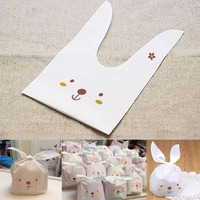 50Pcs Cute Little Rabbit Style Plastic Candy Bags For Birthday Party Items Candy Bag Party Bags