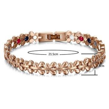 RainSo Healthy Magnetic Hologram Bracelet Women Jewelry 1