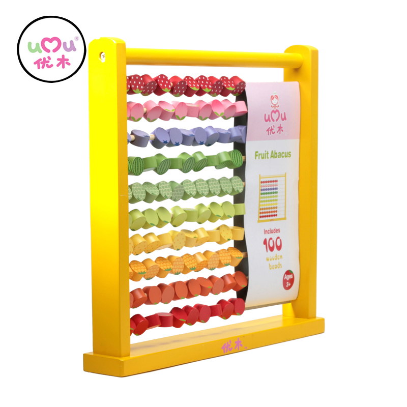 [Umu] Learning & Education Wooden Toys Fruit Abacus Wooden Toys For Children Kids Educational Toy new children kids puzzle learning developmental versatile flap abacus wooden toys wood educational learning cock tool fci