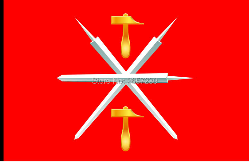 Tula Oblast flagstat stat Rusland flag 150X90 cm 100D Polyester3x5FT messing pakninger brugerdefineret flag, gratis forsendelse