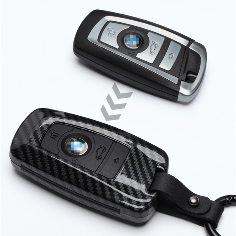 Image 5 - Carbon stripe Matte texture Car Key Cover Case For BMW 520 525 f30 f10 F18 118i 320i 1 3 5 7 Series X3 X4 M3 M4 M5 Car stying-in Key Case for Car from Automobiles & Motorcycles