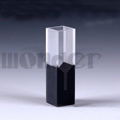200ul 10mm Lunghezza Del Percorso Sub-Micro JGS1 Quarzo Cella Con Pareti Nere E Coperchio200ul 10mm Lunghezza Del Percorso Sub-Micro JGS1 Quarzo Cella Con Pareti Nere E Coperchio