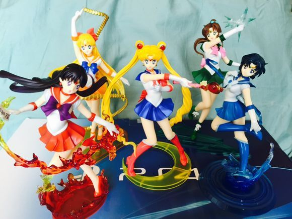 7 Style Anime Sailor Moon Jupiter Figures Uranus Neptune Tsukino Usagi Sailor Mars Mercury Jupiter Venus Saturn PVC Figure Toys
