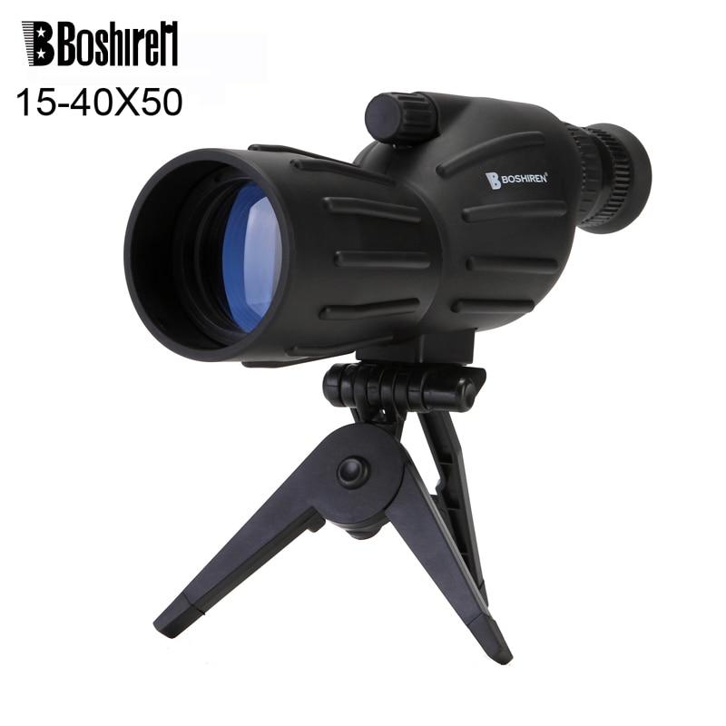 Hot selling 15-40x50 Zoom HD Monocular bird watching Telescope binoculars With Portable Tripod Spotting Scope Blue Coating nikula 7x18 golf portable hd blue film monocular telescope white black