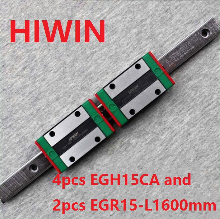 2pcs 100% original HIWIN linear rail EGR15 -L 1600mm + 4pcs EGH15CA linear block for CNC ботинки для мальчика reima черные