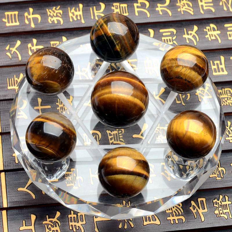 1 Set = 7 Pcs tigereye method crystal healing absorb energy psychic astrology telepathize Scholomance for health care