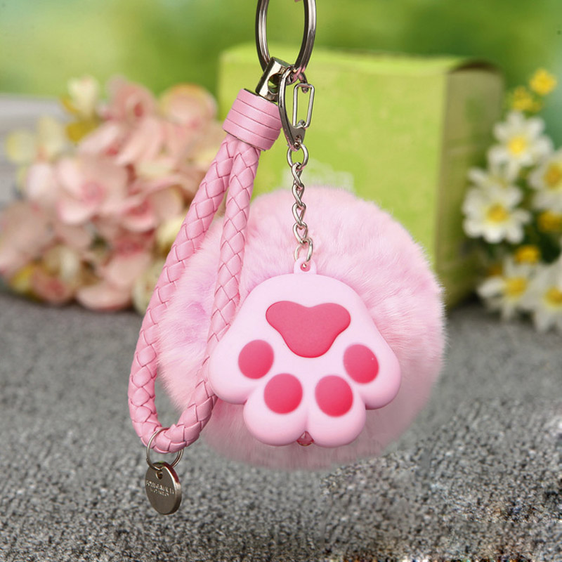 5color 8CM Small Cute Cat's paw Soft pendant plush toy Phone Decoration Straps Key Chain Bag Charms plush animal gift for girls green 2 12 years princess children birthday dress teenage mutant ninja turtles baby lace tutu dress disfraz princesa kid clothes