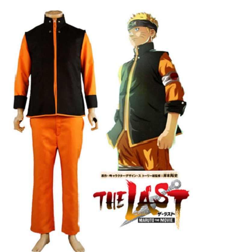 High-Q Unisex Anime Cos NARUTO The Last poster Uzumaki Naruto Cosplay Costume