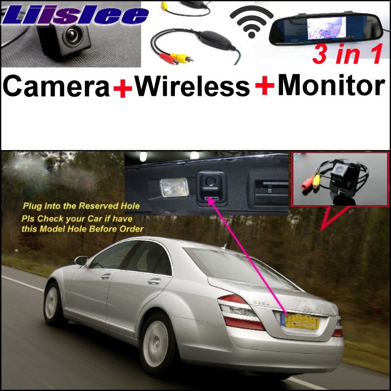 Liislee Special Camera + Wireless For Mercedes Benz S Class MB W221 S300 S320 S350 S400 S420 S450 S500 S600 S63 S65 2006~2012 for mercedes benz w221 s class s350 s400 s500 s550 s600 s63 s65 amg excellent multi color ultra bright rgb led angel eyes kit