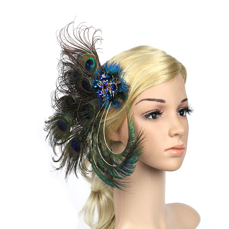 1920s Great Gatsby Feather Headpiece Elegant Women Faacinator Party Hair Accessory For Prom Tail Head Wear In Accessories From S