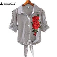 New Tops 2017 Kimono Pinstripe Hem Women Blouse
