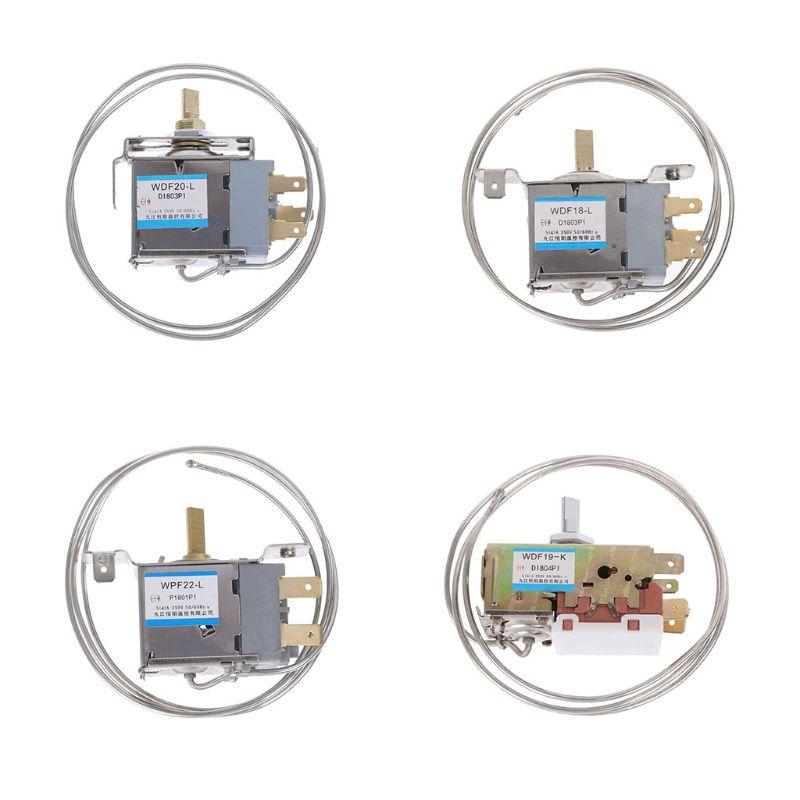 WDF18-L/WDF20-L/WDF19-K/WDF22-L 2Pin الثلاجة الفريزر ترموستات المنزلية المعادن متحكم في درجة الحرارة