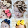 5 pcs Big Bowknot Baby Girl Headbands Infant Baby Flower Hair Bands Children Kids Hair Accessory tracking number