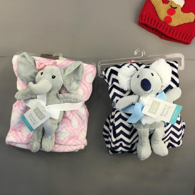 Accesorios cochecito de coche de bebé-cubre manta bebek arabasi niños niñas de algodón suave mantas de lana con lindo juguetes de peluche de Elefante