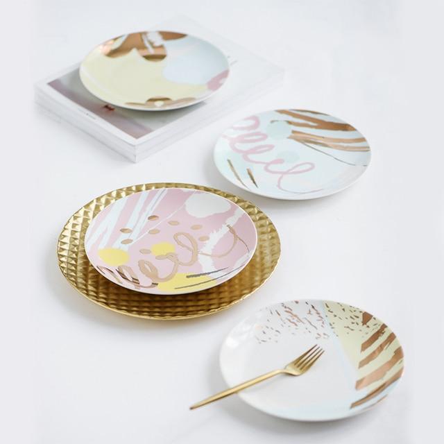 Western-style 8 Inches Ceramic Dinnerware Cartoon Bone Porcelain Dishes for Restaurant Round Lovely Children  sc 1 st  AliExpress.com & Western style 8 Inches Ceramic Dinnerware Cartoon Bone Porcelain ...