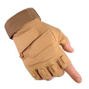 Image 5 - Nuevos hombres y mujeres táctico guantes al aire libre antideslizante ciclismo deportivo de la mitad de dedo completo dedo luchando guantes