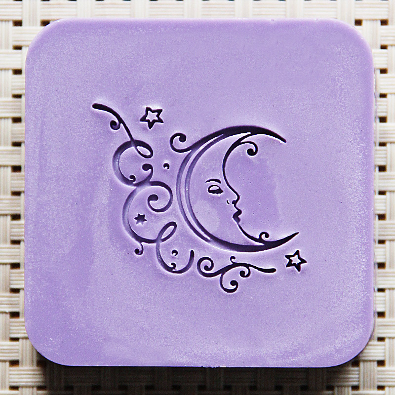 Nicole Soap Seal Stamp for Natural Handmade Soap Moon Pattern Acrylic Mold Chapter soap handmade resin soap stamp seal soap mold mould 1 97 x1 57