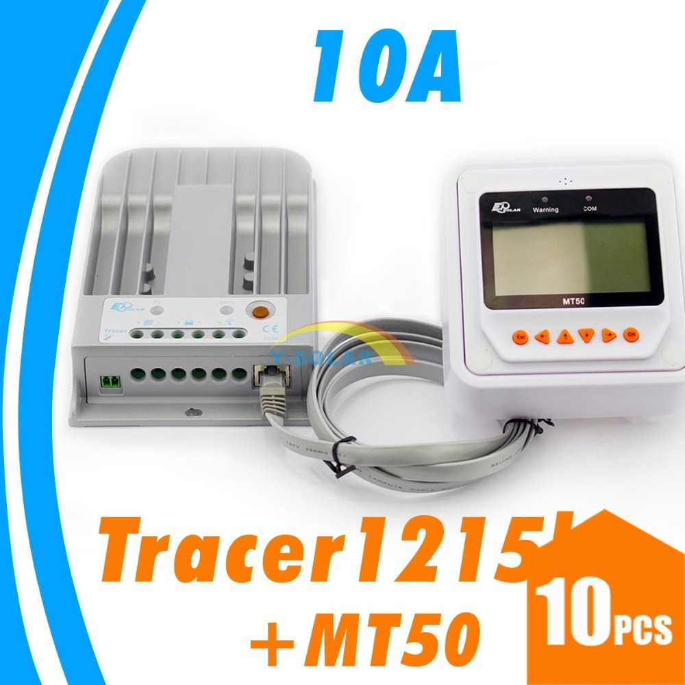 10A MPPT Solar charge controller 12V24V solar Panel Auto Light and dual timer Battery option Voltage settable Remote meter mt50 12 0 917037