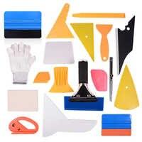 EHDIS 18 sztuk Vinyl Film Car Wrap zestaw narzędzi z włókna węglowego ściągaczka skrobak do śniegu nóż nóż ostrze barwienie okien naklejki zestaw narzędzi