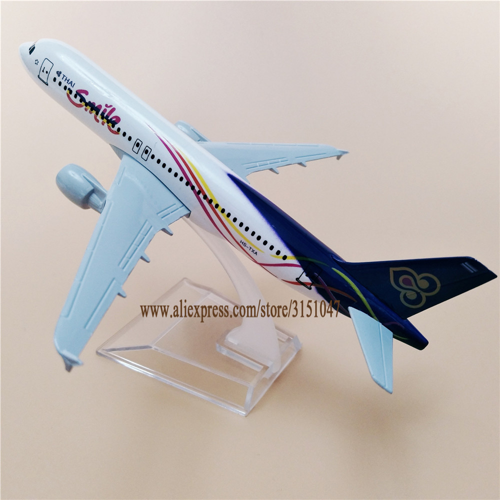 US $9 92 36% OFF Air Thailand Smile Thai Airlines Airbus 320 A320 Airways  Airplane Model Alloy Metal Model Plane Diecast Aircraft 16cm Gift-in